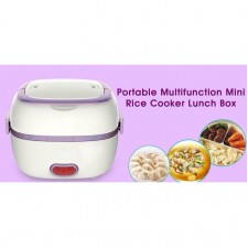 Portable Mini Rice Cooker Electric Lunch Box Food Container EggSteamer