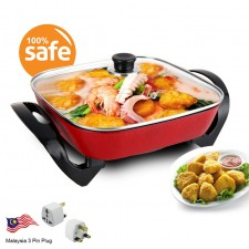 Korea 30x30cm Non Stick Steamboat Cooker Grill Electric Pot G076
