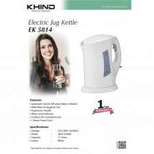 Khind EK5814/EK5813 Cordless Electric Jug Kettle Auto Switch