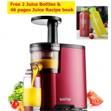 SAVTM JE-07 Slow Juicer 100% Fresh Fruit Juice Extraction Blender Maker AMGO