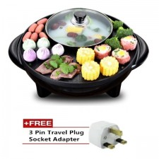 High Quality 2 in 1 BBQ Grill and Steamboat Hot Pot Shabu Shabu