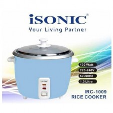 Isonic 1.0L Rice Cooker 400W Keep Warm S.Stee Lid IRC-1009
