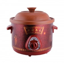 6L Electric Smooth and Slow Rice Cooker Soup Porridge Cooker (Maroon)