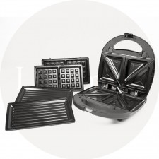 MECK 3IN1 SANDWISH MAKER - WAFFLE MAKER + SANDWICH MAKER + BBQ HEATING PLATE