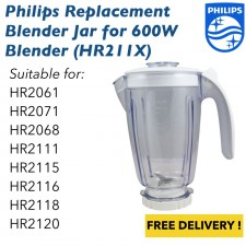 Philips Blender Replacement Jar Complete Set HR211X (Suitable HR2115, HR2111)