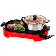 Smokeless Magic Bullet Electric BBQ Grill & Steamboat