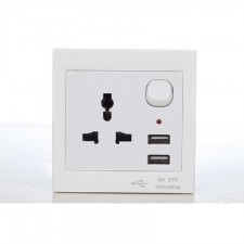 Universal Wall Socket with USB Port X 1