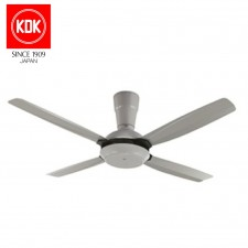 KDK REMOTE CEILING FAN K14X5 GREY 4 BLADE 56""