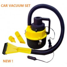 Portable Canister Car Vacuum Cleaner Hoses Inflation Pump