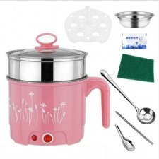 Portable Multifunctions 1.8L Mini Electric Cooker Cooking Steamboat Pot