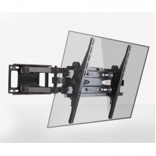 LED Slim TV Bracket 32˝-65˝ Full Motion Adjustable Wall Mount Double Arm Black