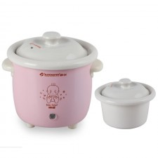 Electric Ceramic Baby Mini Porridge Pot 0.7L Automatic Small Stew