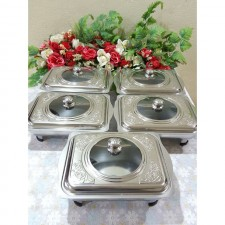 Buffet ukir bunga ros/tray makanan (5 tray for 1 set)