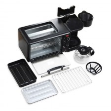 3 in 1 Multifunction Breakfast Maker Toaster Coffee Machine Oven Electric Frying