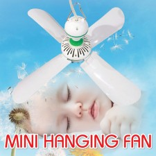 Mini Ceiling Hanging HJ-590 Silent Quiet Fan Easy Hanging