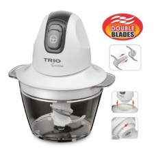 TRIO TFC-355 Mini Food Chopper FREE Fast Chop With Double Layer Blade