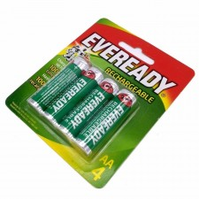 Official Eveready Rechargeable Batteries AA 4 PACK 1300mAh
