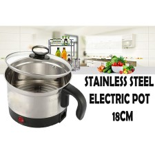 Stainless Steel Multifunction Cooking Pot 1 Layer Cooker Boiler 18cm