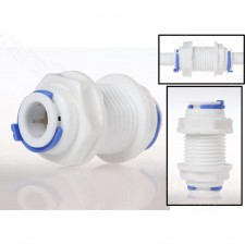 """RO System Water Filter Bulkheads Quick Connector 1/4"""" (BU2-2)"""