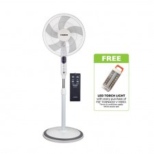 Faber FSF TORNADO V 1693D Remote Control 16'' Stand Fan [Free LED Torch Light]