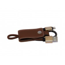 STARLO PU LEATHER KEYCHAIN LIGHTNING DATA CABLE FOR IOS