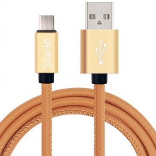 STARLO PU LEATHER LIGHTNING DATA CABLE FOR IOS