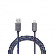 STARLO JEAN DENIM 8 PIN LIGHTNING DATA CABLE FOR  IOS