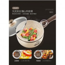 All in one mini elctric cooker- comes with steam pot (19cm/brown)