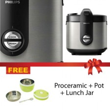 Philips Daily Collection Rice Cooker HD3132 + Pot + Lunch Box