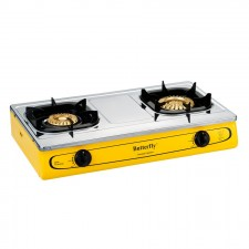 Butterfly Double Gas Stove 2 Burners Stainless Steel T-923B