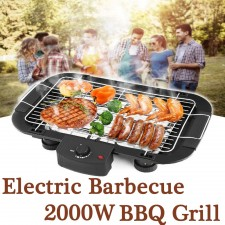 Home Electric Barbeque Grill BBQ Teppanyaki Griddle Smokeless 2000W