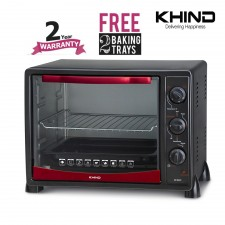 Khind OT2501 Electric Oven Toaster 25L + 2 FREE Baking Trays