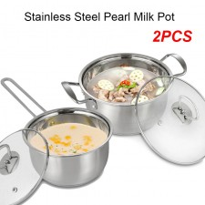 ALX High Quality 4pcs 304 Stainless Steel Glass Lid Cookware Set HL-COOK-002