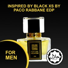 INSPIRED BY BLACK XS BY PACO RABBANE 30ML EDP FOR MEN JAKIM CERTIFIED HALAL PERFUME