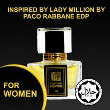 INSPIRED BY LADY MILLION BY PACO RABBANE 30ML EDP FOR WOMEN JAKIM CERTIFIED HALAL PERFUME