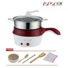 Multifunction Electric Pot 2 Layer Non Stick Rice Cooker Steamboat Fry Steamer