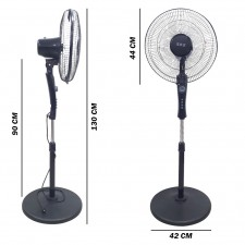 Stand Fan With Timer Oscillating 5 Blade Cooling Strong Wind Blowing
