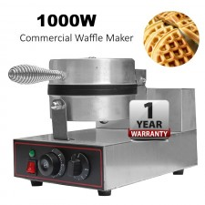 1000W Commercial Non-Stick Waffle Maker Stainless Steel