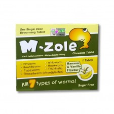 M-ZOLE CHEWABLE TABLET Ubat Cacing Mebendazole 500mg 1S