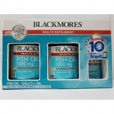 2 Bottles BLACKMORES Fish Oil 1000mg 120'S FREE 30'S