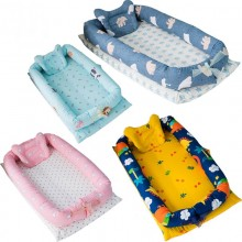 Baby Bed Pillow Portable Foldable Crib Newborn Cotton Sleep Travel Bed