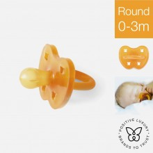 Hevea Round Natural Rubber Pacifier