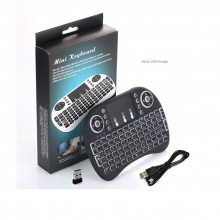 7 Colors I8 Mini Wireless Keyboard 2.4g Handheld Touchpad Rechargeable Battery