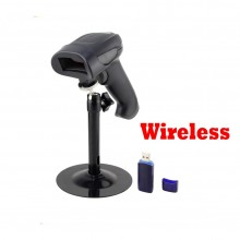 2.4G Wireless Laser Barcode Scanner POS Reader Long Range Cordless