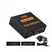 2Port 4K 3D HDMI Splitter With UK Power Adapter For Projector Monitor