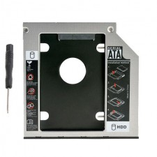 "Aluminum Plastic Universal 2nd HDD Caddy 9.0mm SATA 3.0 2.5"" SSD HDD Case"