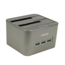 Fideco Dual Bay HDD Docking Station YPZ04-S2H-U3