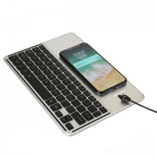 Smart LED Keyboard with Wireless Charger