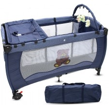 Portable Baby Playpen Bassinet Baby Cot Diaper Changer Toys