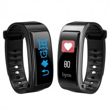 Y3 Plus Bluetooth Heart Rate Sleep Monitor Pedometer Fitness Smart Bracelet